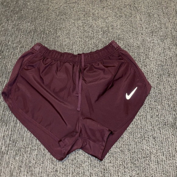 Maroon Nike Dri fit running shorts